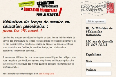 Pétition Education prioritaire